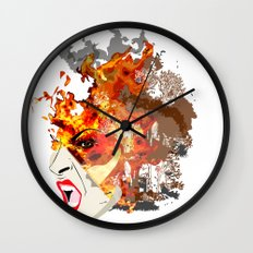 Fire- from World Elements Series Wall Clock
