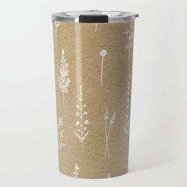 Wildflowers kraft Travel Mug