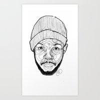 j dilla Art Prints featuring J. Dilla by Icon Ink