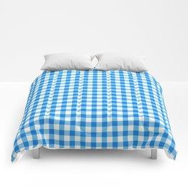 Gingham Print - Blue Comforters