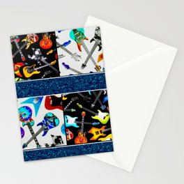 Electric Guitar Love Art Stationery Cards
