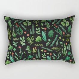 dark nature garden Rectangular Pillow