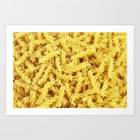 pasta Art Prints featuring Pasta by TilenHrovatic
