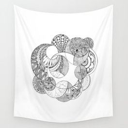 Moon Patterns Wall Tapestry