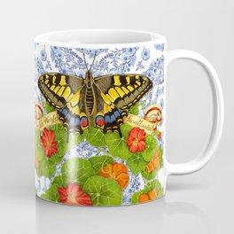 Swallowtail Butterfly and Blue Rhapsody Coffee Mug