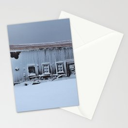 Snow Caked Barn Stationery Cards