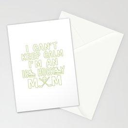 I'M AN ICE HOCKEY MOM Stationery Cards