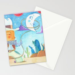 Cowboy Romeo and the Evening Stars Stationery Cards