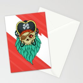 Pixel Pirate Stationery Cards