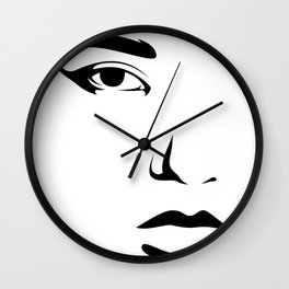 reliance - minimal face Wall Clock