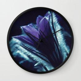 Flower in the Moonlight #2 #Purple Wall Clock