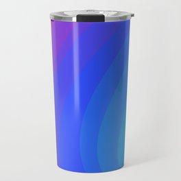 Mint, Blue, & Magenta Gradient Ellipses Travel Mug