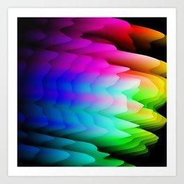 Fingerling Clouds: Elegant Fractal Art Design Art Print