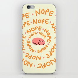 Nope Kitty iPhone Skin