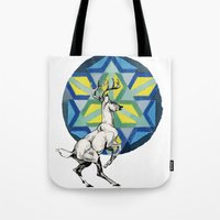 stag Tote Bags featuring STAG by The Traveling Catburys