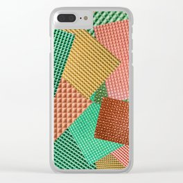 Abstract collage of color images of food waffles Clear iPhone Case