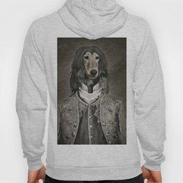 Afghan hound wearing a Louis XIV suit Hoody