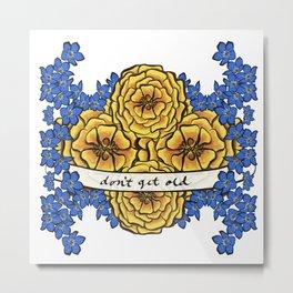 Forget-Me-Nots & Marigolds Metal Print