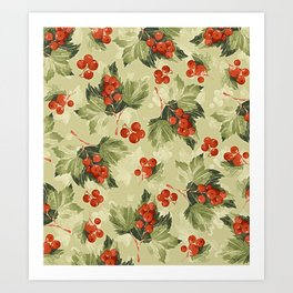 Vintage Berries Art Print