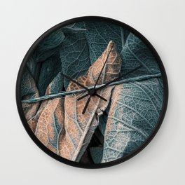 Bound Leaves Wall Clock