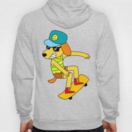 skateboard dog Hoody