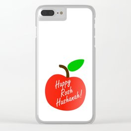 Rosh Hashanah inside an red apple or Jewish Near year greetings Clear iPhone Case