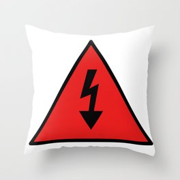 electric current danger signal Throw Pillow