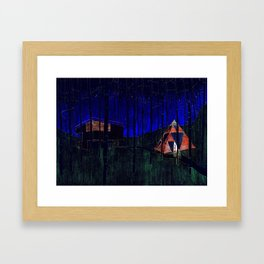 Shelters in the forest Framed Art Print