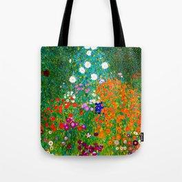 Gustav Klimt - Flower Garden Tote Bag