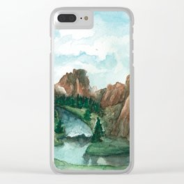 Smith Rock Oregon landscape Clear iPhone Case