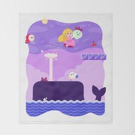 Tiny Worlds - Super Mario Bros. 2: Peach Throw Blanket