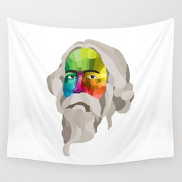 Rabindranath Tagore - popart portrait Wall Tapestry