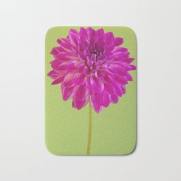 Close-up image of the flower dahlia on green background. Shallow depth of field. Bath Mat