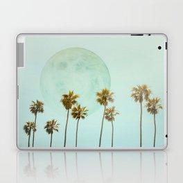 Full Moon Paradiese Beach Palm Trees Laptop & iPad Skin