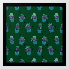 Bloke with the Poke Pattern Art Print