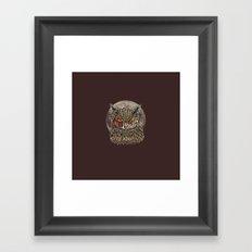 Zombie Owl Framed Art Print