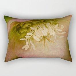 Pink Christmas Rose Rectangular Pillow