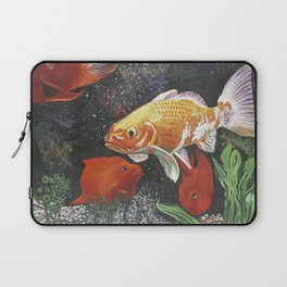 Grassy Plain Goldfish Laptop Sleeve