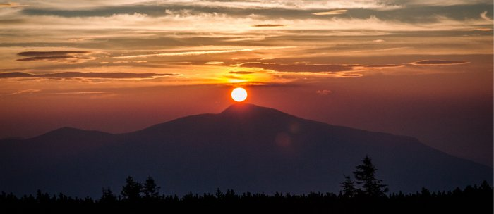 Sunrise in the mountain Coffee Mug