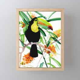 Toucan, Tropical Art, tropics Framed Mini Art Print