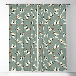 Jack Russell Green Bay Blackout Curtain