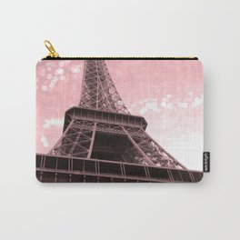 Paris Pink Eiffel Tower Carry-All Pouch
