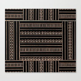 Vintage Black and Tan Pattern Canvas Print