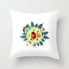 Little Red Riding Cap Throw Pillow