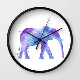 Watercolor Elephant Wall Clock