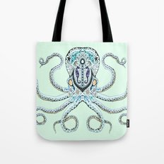 Sugar Skull Octopus Tote Bag