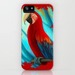 Technicolor Macaw iPhone Case