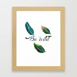 Watercolor Tribal Feathers Framed Art Print