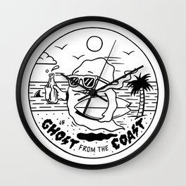Ghost from the Coast Wall Clock