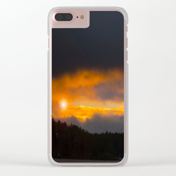 October Cloudy Sunset #decor #buyart #society6 Clear iPhone Case